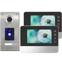 "1-FAM FINGERPRINT FARB VIDEO SPRECHANLAGE MIT 7"" MONITOR SW/SI"
