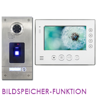 1-FAM. FINGERPRINT FARB VIDEO SPRECHANLAGE MIT BILDSPEICHER