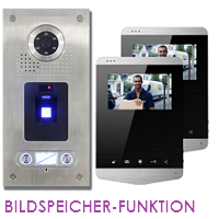 2-FAM. FINGERPRINT FARB VIDEO SPRECHANLAGE MIT BILDSPEICHER