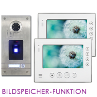 1-FAM. FINGERPRINT FARB VIDEO TÜRSPRECHANLAGE MIT BILDSPEICHER
