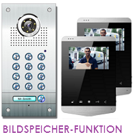 1-FAM. PIN-CODE FARB VIDEO TÜRSPRECHANLAGE MIT BILDSPEICHER