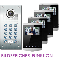 2-FAM. PIN CODE FARB VIDEO TÜRSPRECHANLAGE MIT BILDSPEICHER