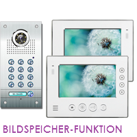 1-FAM. PIN CODE FARB VIDEO TÜRSPRECHANLAGE MIT BILDSPEICHER