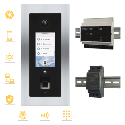 IP VIDEO TÜRKLINGEL MIT KAMERA / FINGERABDRUCK / SMARTHOME